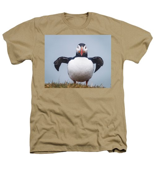 Atlantic Puffin Fratercula Arctica Heathers T-Shirt