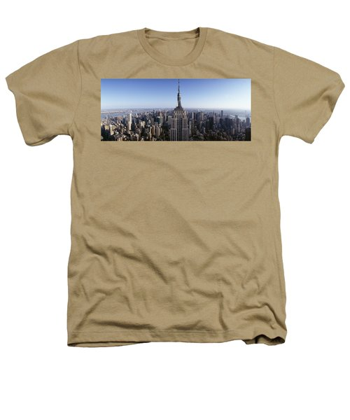 Aerial View Of A Cityscape, Empire Heathers T-Shirt by Panoramic Images