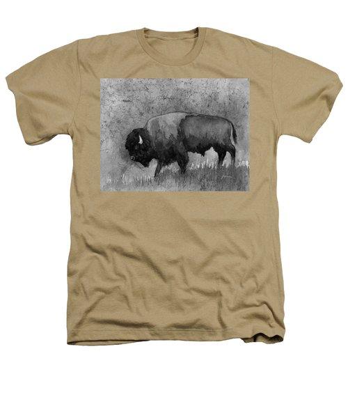 Monochrome American Buffalo 3  Heathers T-Shirt