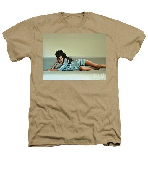 Amy Winehouse 2 Heathers T-Shirt by Paul Meijering