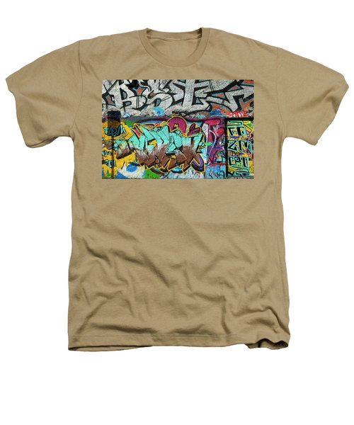 Artistic Graffiti On The U2 Wall Heathers T-Shirt