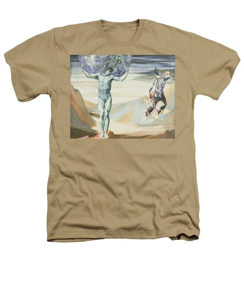 Atlas Turned To Stone, C.1876 Heathers T-Shirt by Sir Edward Coley Burne-Jones