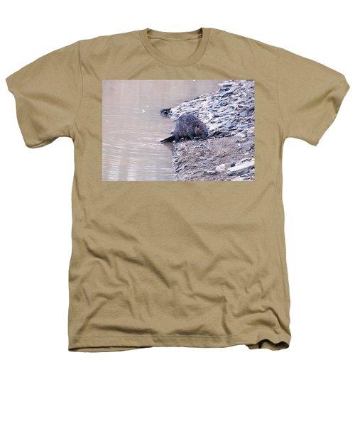 Beaver On Dry Land Heathers T-Shirt by Chris Flees