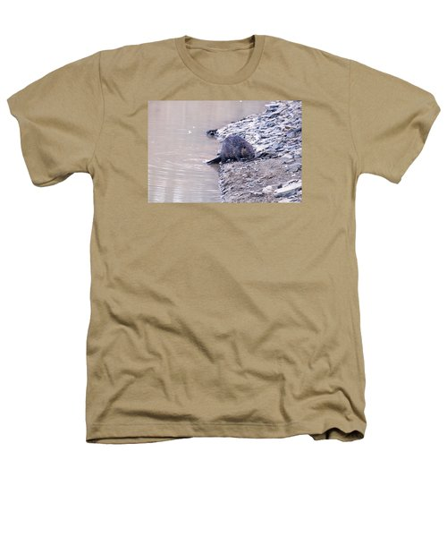 Beaver On Dry Land Heathers T-Shirt by Chris Flees