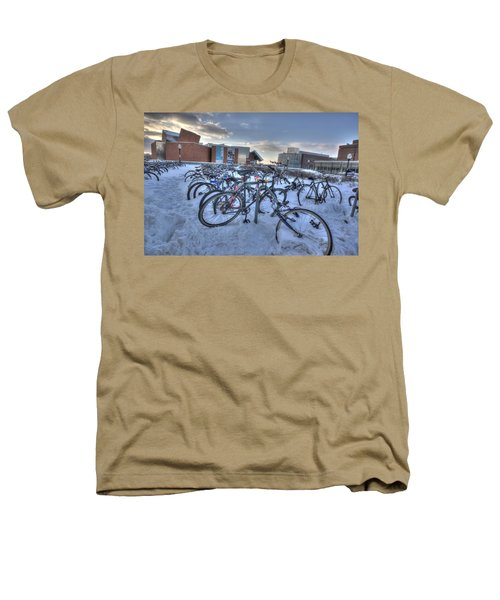 Bikes At University Of Minnesota  Heathers T-Shirt by Amanda Stadther