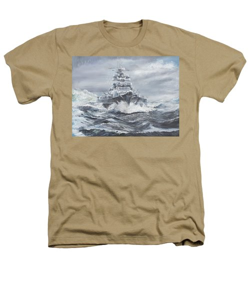 Bismarck Off Greenland Coast  Heathers T-Shirt by Vincent Alexander Booth