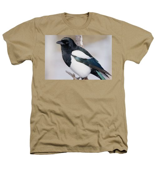 Black-billed Magpie Heathers T-Shirt by Eric Glaser