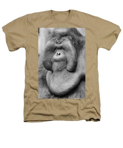 Bornean Orangutan IIi Heathers T-Shirt by Lourry Legarde