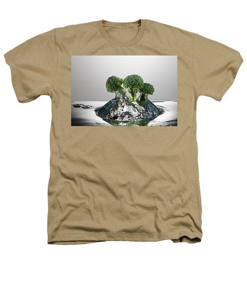 Broccoli Freshsplash Heathers T-Shirt by Steve Gadomski