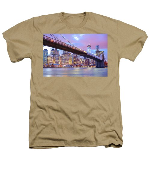 Brooklyn Bridge And New York City Skyscrapers Heathers T-Shirt