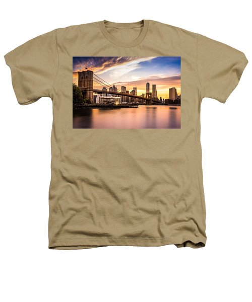 Brooklyn Bridge At Sunset  Heathers T-Shirt