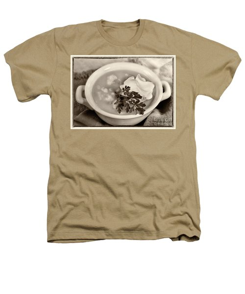 Cauliflower Soup Sepia Tone Heathers T-Shirt by Iris Richardson