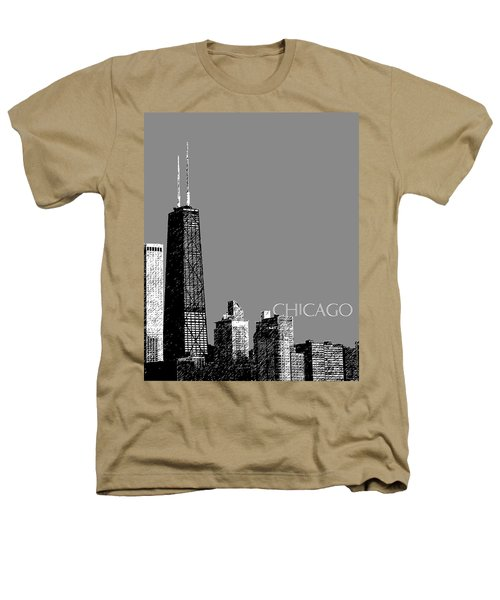 Chicago Hancock Building - Pewter Heathers T-Shirt