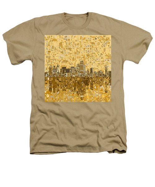 Dallas Skyline Abstract 6 Heathers T-Shirt