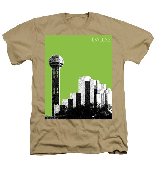 Dallas Skyline Reunion Tower - Olive Heathers T-Shirt