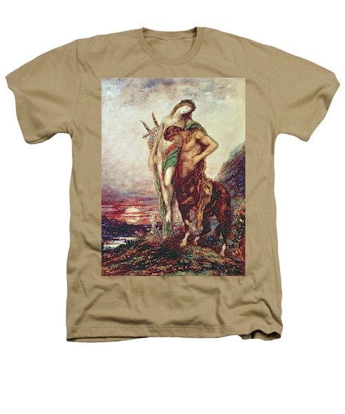 Dead Poet Borne By Centaur Heathers T-Shirt by Gustave Moreau
