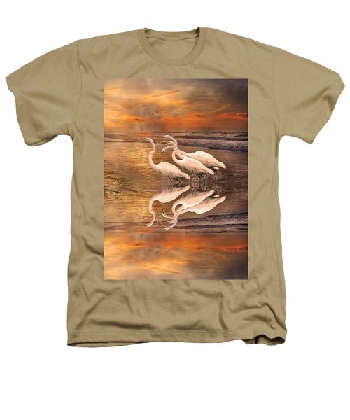 Dreaming Of Egrets By The Sea Reflection Heathers T-Shirt by Betsy Knapp