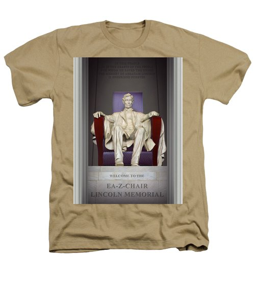 Ea-z-chair Lincoln Memorial 2 Heathers T-Shirt by Mike McGlothlen