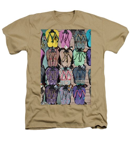 Flip Flops Heathers T-Shirt by Peter Tellone