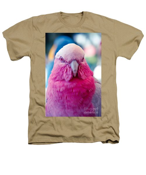Galah - Eolophus Roseicapilla - Pink And Grey - Roseate Cockatoo Maui Hawaii Heathers T-Shirt by Sharon Mau