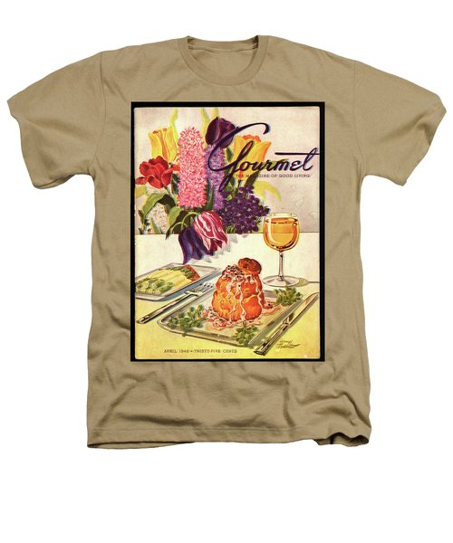 Gourmet Cover Featuring Sweetbread And Asparagus Heathers T-Shirt by Henry Stahlhut