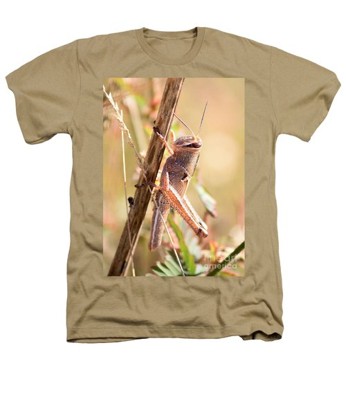 Grasshopper In The Marsh Heathers T-Shirt by Carol Groenen