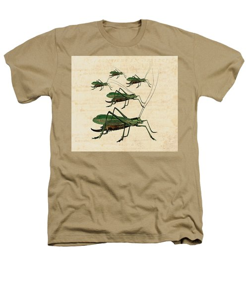 Grasshopper Parade Heathers T-Shirt by Antique Images