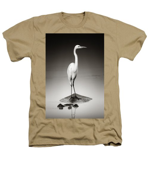 Great White Egret On Hippo Heathers T-Shirt