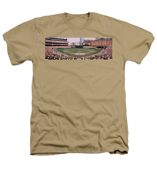 High Angle View Of A Baseball Field Heathers T-Shirt by Panoramic Images