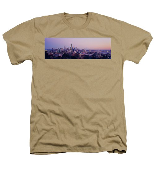 High Angle View Of A City At Sunrise Heathers T-Shirt