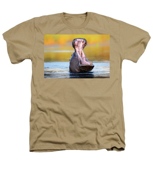 Hippopotamus Displaying Aggressive Behavior Heathers T-Shirt