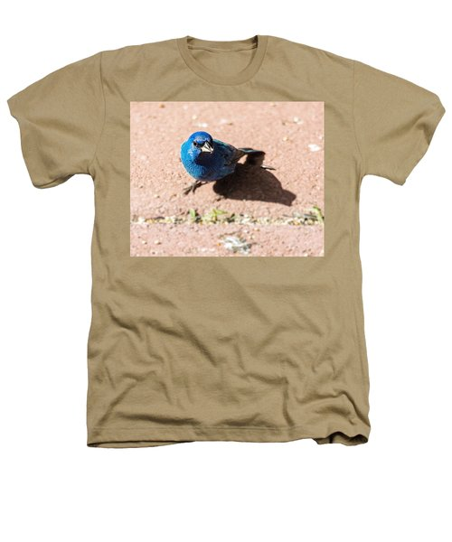 Indigo Bunting Heathers T-Shirt by Jon Woodhams