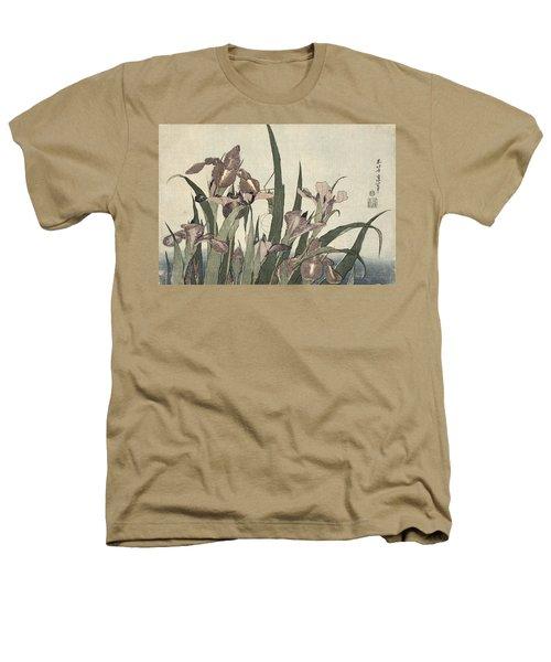 Irises And Grasshopper Heathers T-Shirt