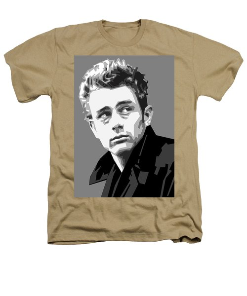 James Dean In Black And White Heathers T-Shirt by Douglas Simonson
