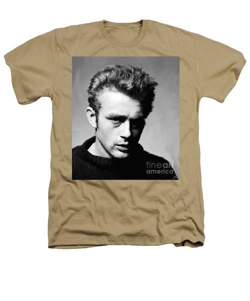 James Dean - Portrait Heathers T-Shirt by Paul Tagliamonte