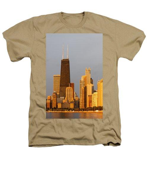 John Hancock Center Chicago Heathers T-Shirt by Adam Romanowicz
