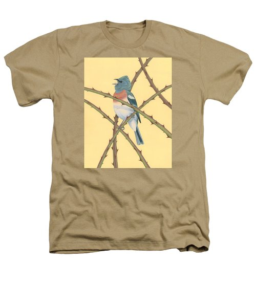 Lazuli Bunting Heathers T-Shirt by Nathan Marcy