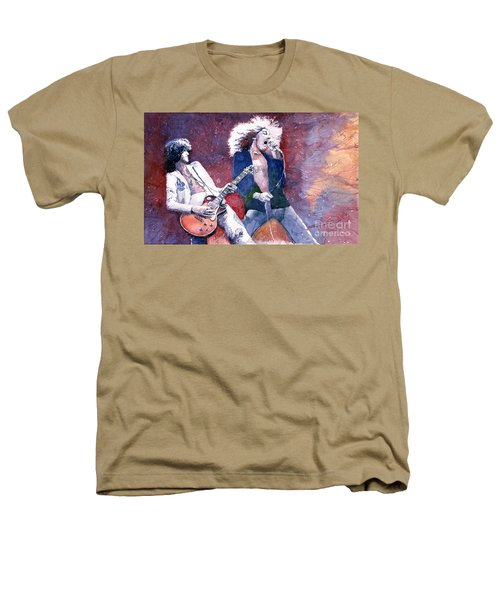 Led Zeppelin Jimmi Page And Robert Plant  Heathers T-Shirt