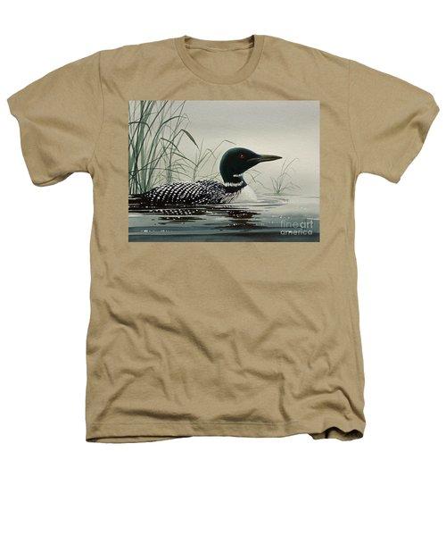 Loon Near The Shore Heathers T-Shirt