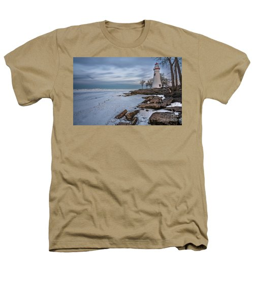 Marblehead Lighthouse  Heathers T-Shirt by James Dean