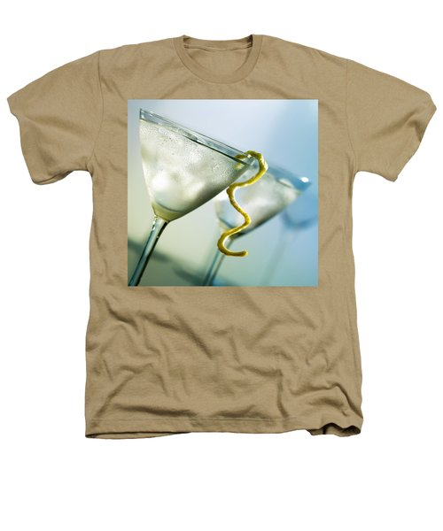 Martini With Lemon Peel Heathers T-Shirt