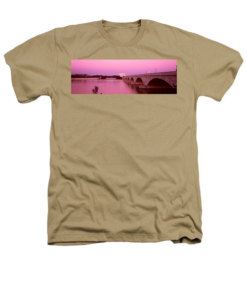Memorial Bridge, Washington Dc Heathers T-Shirt by Panoramic Images
