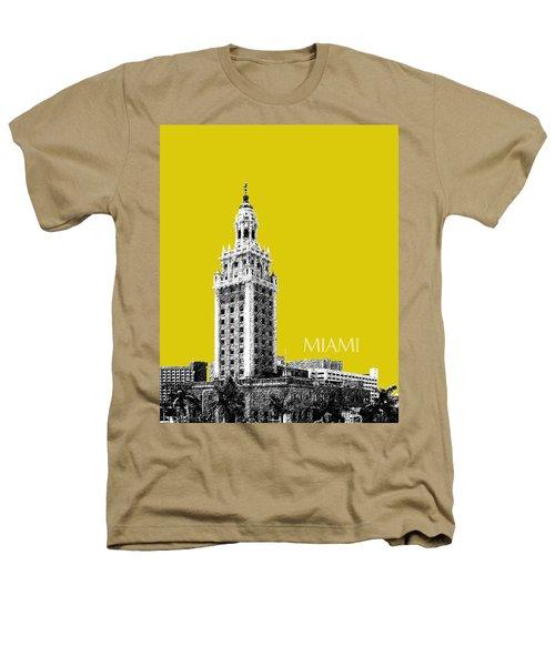 Miami Skyline Freedom Tower - Mustard Heathers T-Shirt