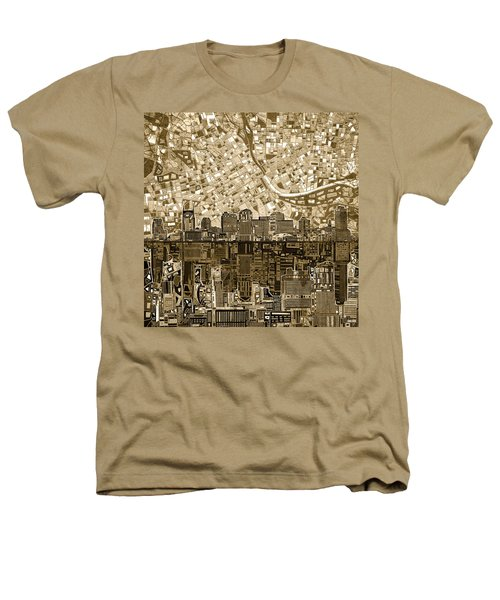 Nashville Skyline Abstract 6 Heathers T-Shirt