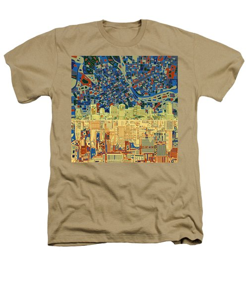 Nashville Skyline Abstract 9 Heathers T-Shirt