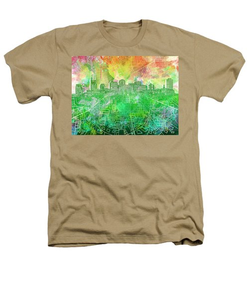 Nashville Skyline Watercolor 2 Heathers T-Shirt