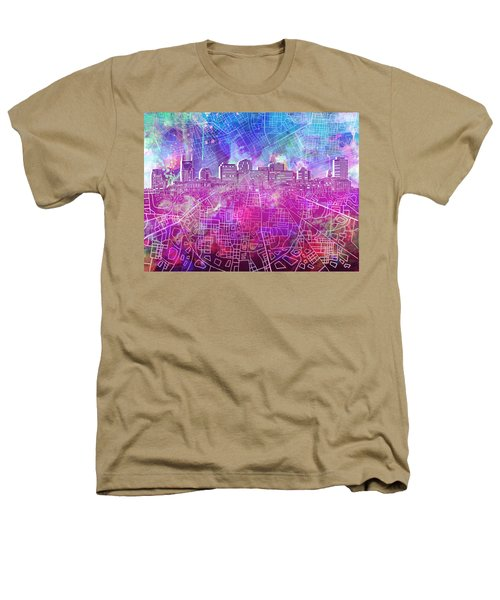 Nashville Skyline Watercolor Heathers T-Shirt