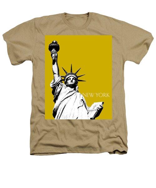 New York Skyline Statue Of Liberty - Gold Heathers T-Shirt