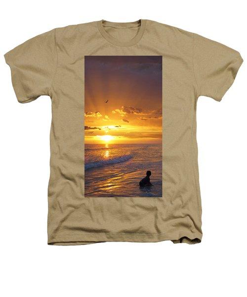 Not Yet - Sunset Art By Sharon Cummings Heathers T-Shirt