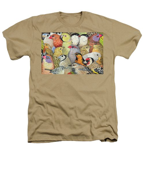 Patchwork Birds Heathers T-Shirt